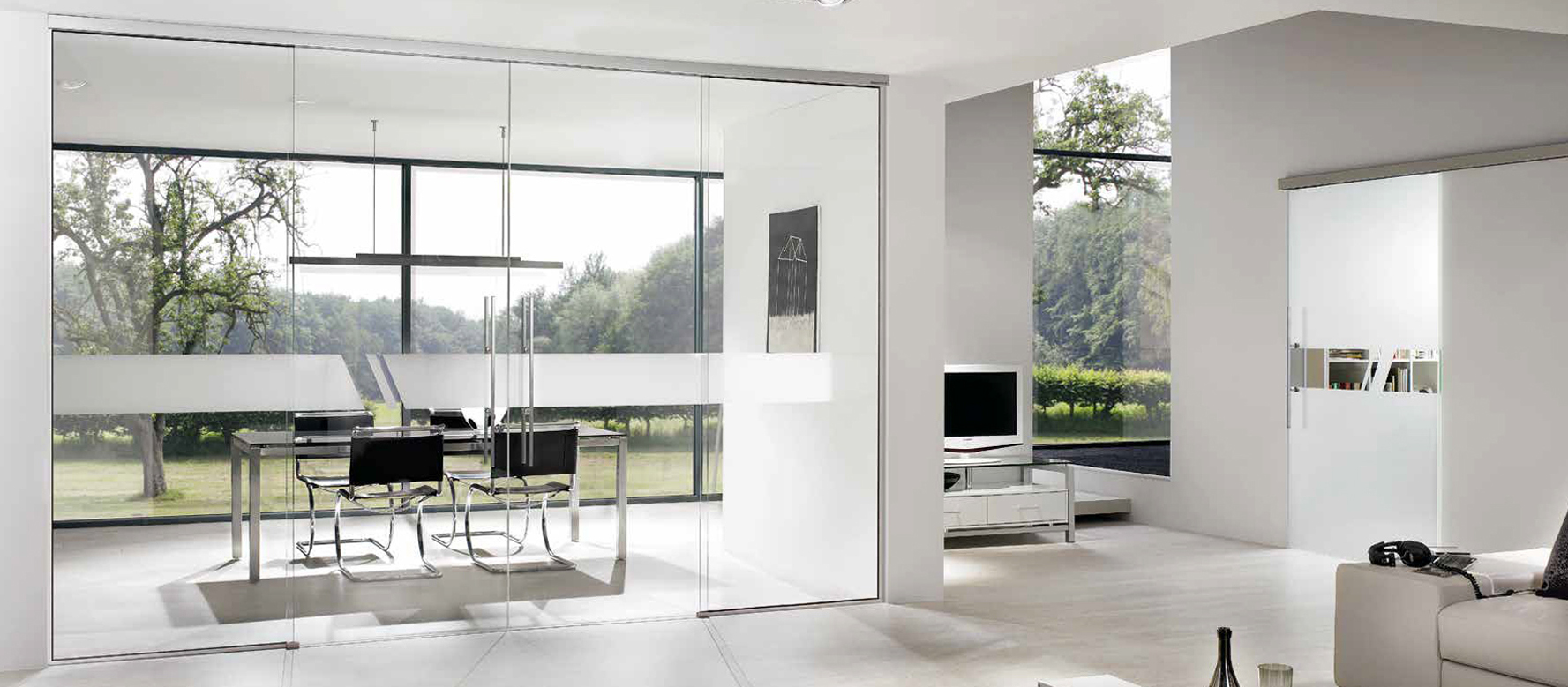 Sliding Glass Doors Single or Wall Partition - Aero Glass Door Design