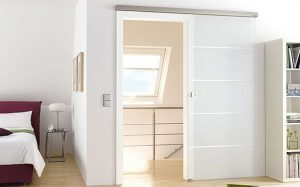 Interior Glass Doors - Atos on frosted glass door